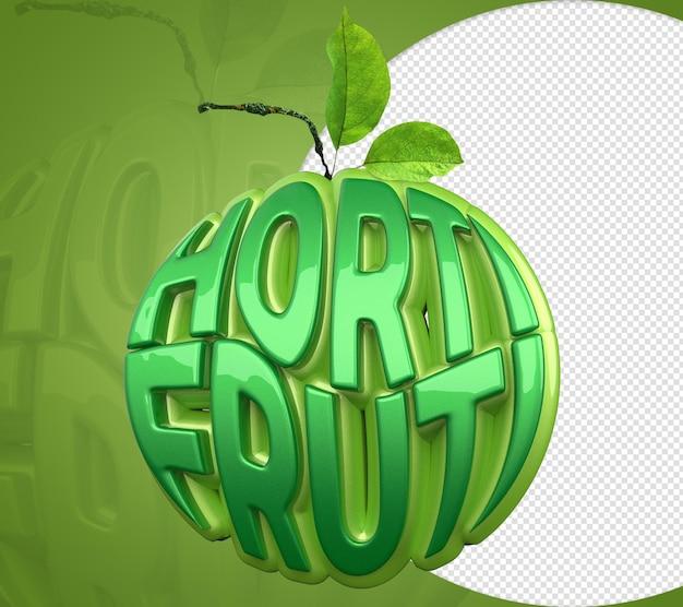 Selo hortifruti 3d para venda de vegetais, frutas e vegetais alimentos vindos da terra