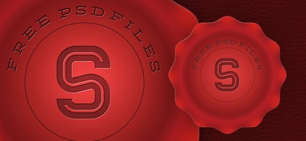 Selo vermelho design gráfico