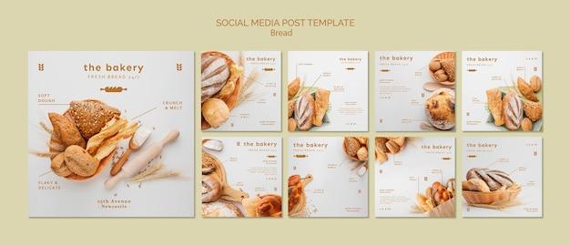 Sempre pão fresco mídia social post