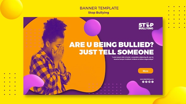 Sendo intimidado, fale com alguém modelo de banner