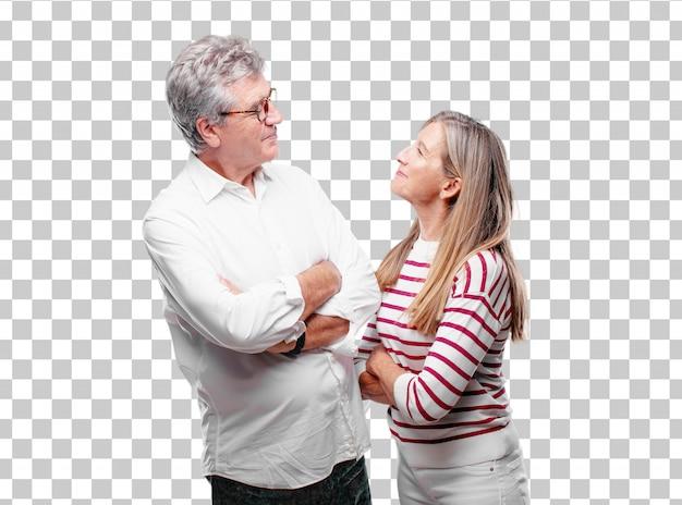 Senior legal marido e mulher com um orgulho