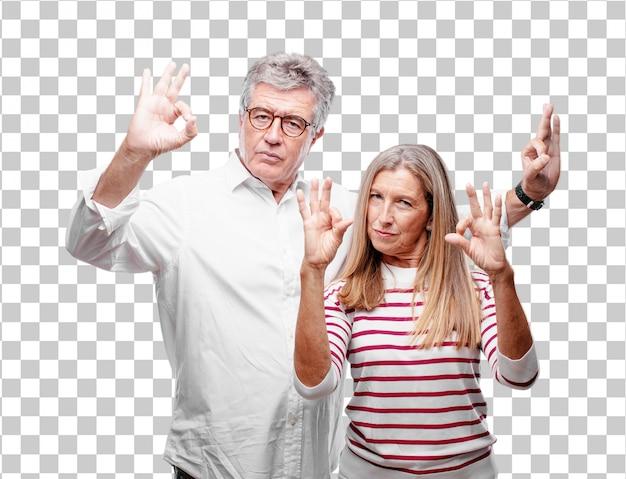Senior legal marido e mulher fazendo um