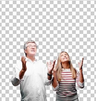 Senior legal marido e mulher olhando estressado e frustrado