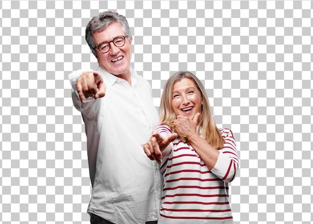 Senior legal marido e mulher rindo muito