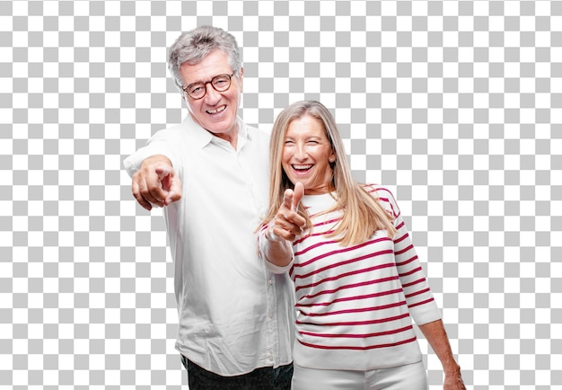 Senior legal marido e mulher rindo