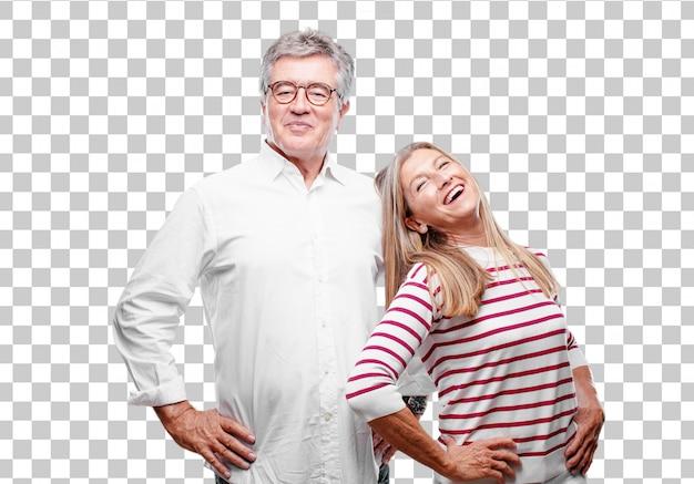Senior legal marido e mulher sorrindo orgulhosamente e com confiança