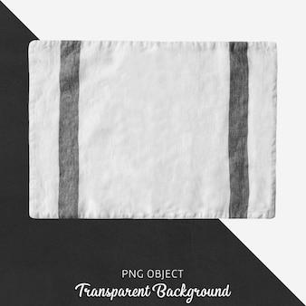 Serviço de tecido branco e preto transparente
