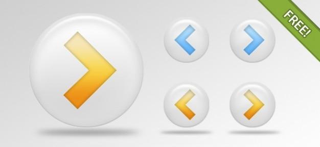 Seta livre psd pacote botões