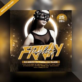 Sexta-feira à noite festa flyer