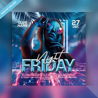 Sexta-feira à noite party flyer