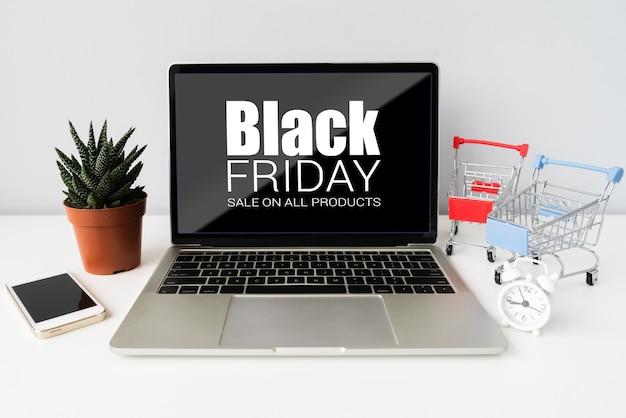 Sexta-feira negra promoções especiais on-line