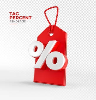 Shopping tag render 3d