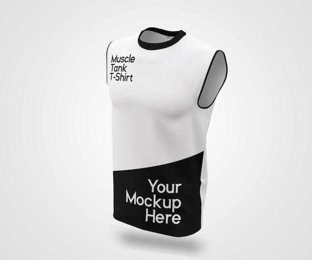 Showcase man muscle tank mockup