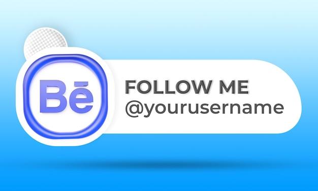 Siga-nos nas redes sociais do behance terço inferior