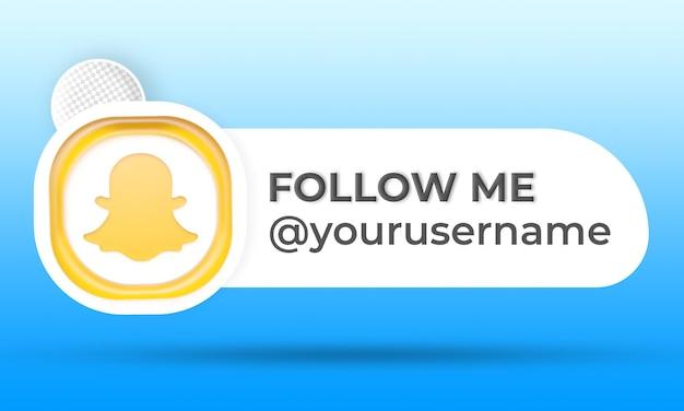 Siga-nos nas redes sociais do snapchat terço inferior
