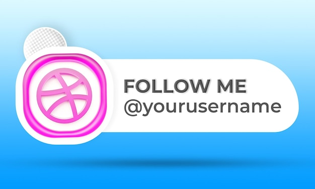 Siga-nos nas redes sociais dribbble no terço inferior