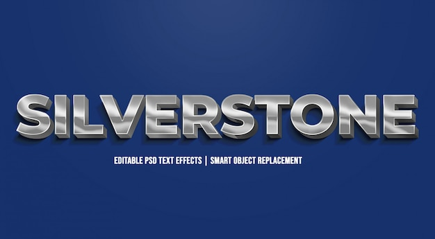 Silverstone - efeitos de texto gradiente modernos