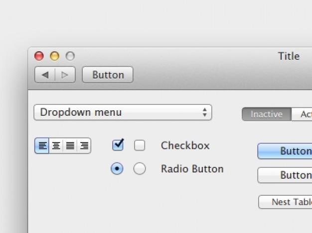 Sim, é uma elementos da interface do psd leão