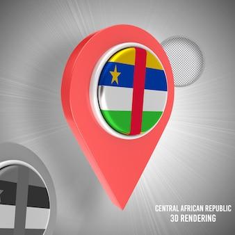 Símbolo de ponteiro de mapa 3d realista ícone 3d isolado