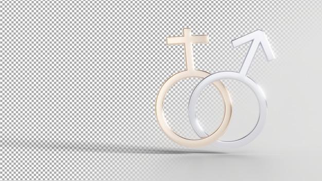 Símbolos de identidade de gênero - feminino masculino
