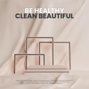 Simple elegant pastel fabric podium