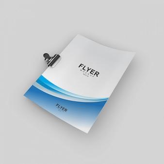 Simples e elegante panfleto elegante e modelo de cartaz mock-up