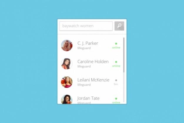 Simples perfil de busca widget