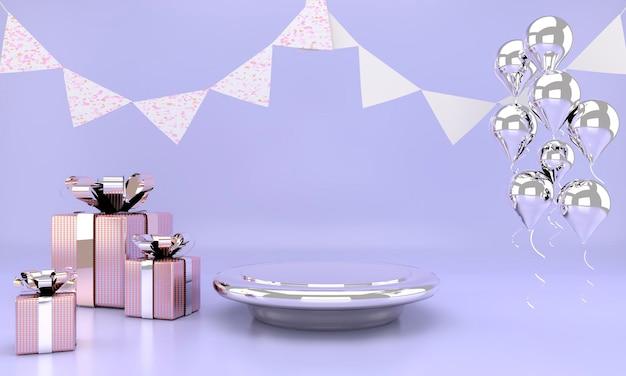 Simulação abstrata da cor pastel da cena.