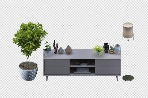 Simulação de pôster interior com moldura de madeira vazia horizontal, estilo de gabinete de renderização 3d