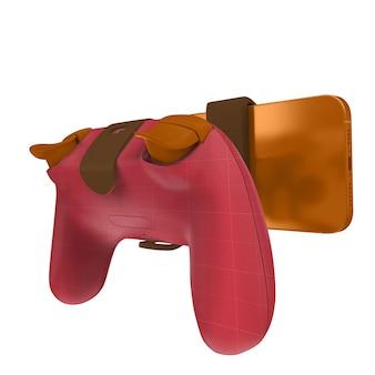 Simulação de telefone gamepad