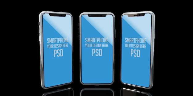 Simulação de telefone inteligente premium psd