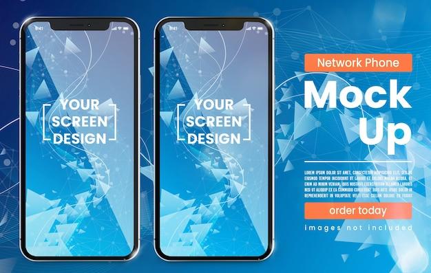 Simulação de telefone moderno com pixel perfeito com espaço de cópia
