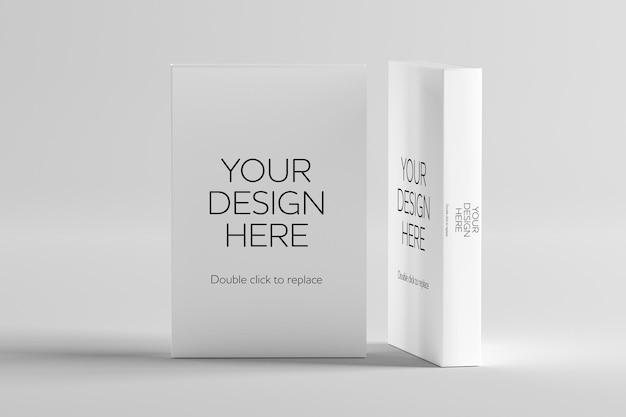 Simulação de um livro branco - renderização em 3d
