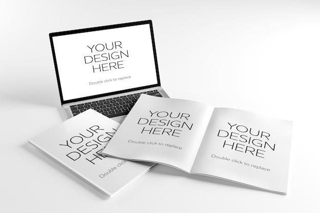 Simule a visualização de uma revista - renderização em 3d