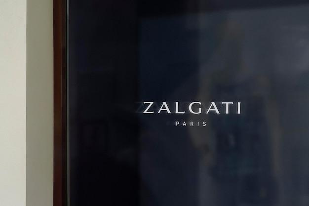 Sinal de janela escuro de maquete de logotipo