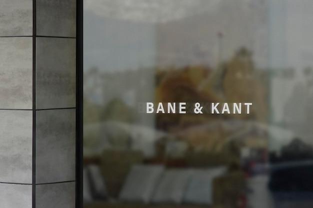 Sinal de janela moderno de maquete de logotipo