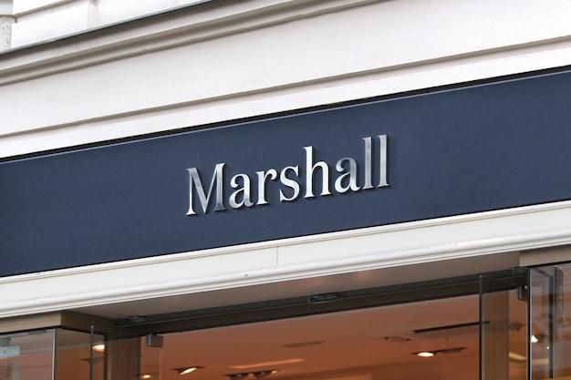 Sinal de loja de maquete de logotipo