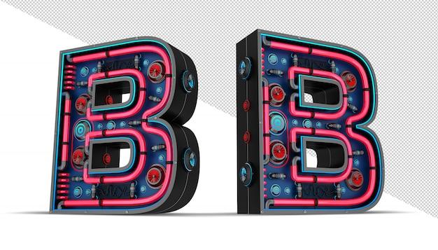 Sinal de néon em forma de letra b