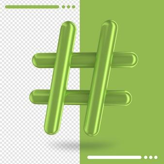 Sinal de número na renderização 3d
