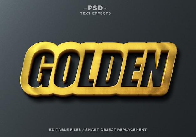 Sinal parede efeitos dourados texto editável