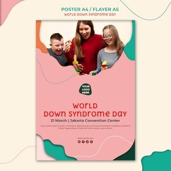 Síndrome de down estilo panfleto de dia