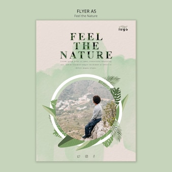 Sinta o panfleto da natureza