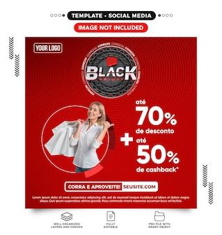 Site de feed de mídia social black friday oferece até 70 de desconto no brasil