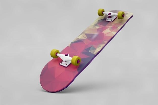 Skate de skate colorido