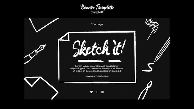 Sketch concept banner template