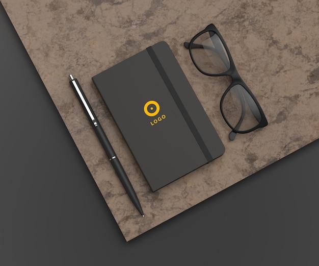 Sketchbook mockup design isolated
