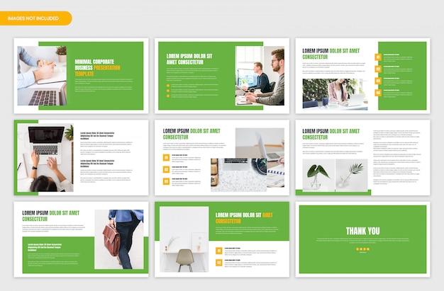Slides mínimos de apresentação de negócios profissionais corporativos