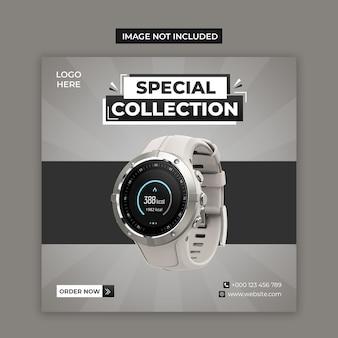 Smart watch mídias sociais e modelo de postagem no instagram