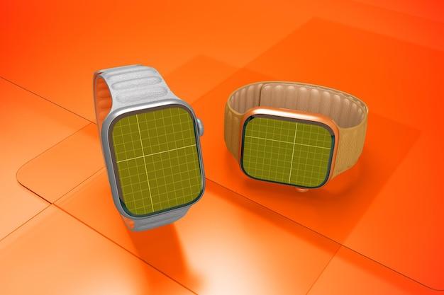 Smart watch on glass