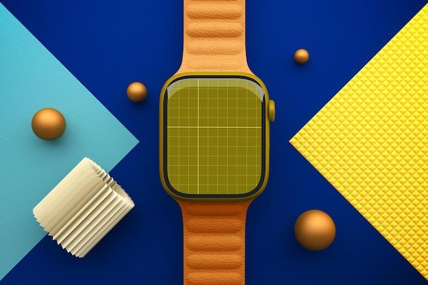 Smart watch top view